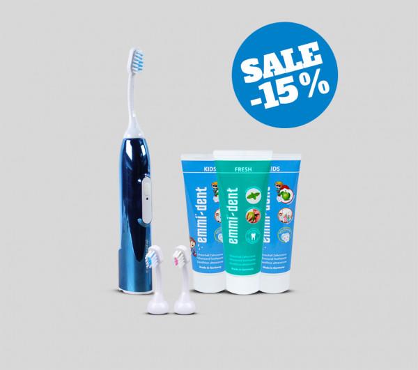Ultrasonic toothbrush - Kids Set Dark Blue Metallic