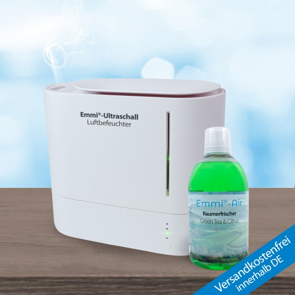 Ultrasonic humidifier *oval* + Room Freshener Citrus & Green Tea