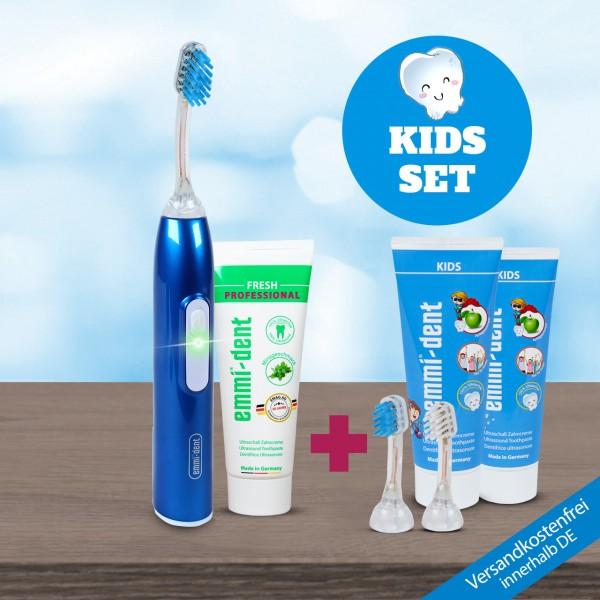 """Ultrasonic Toothbrush - Metallic """"Dark Blue"""" - Kids Set"""