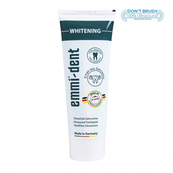 "Ultrasonic Toothpaste - ""whitening"" without packaging"