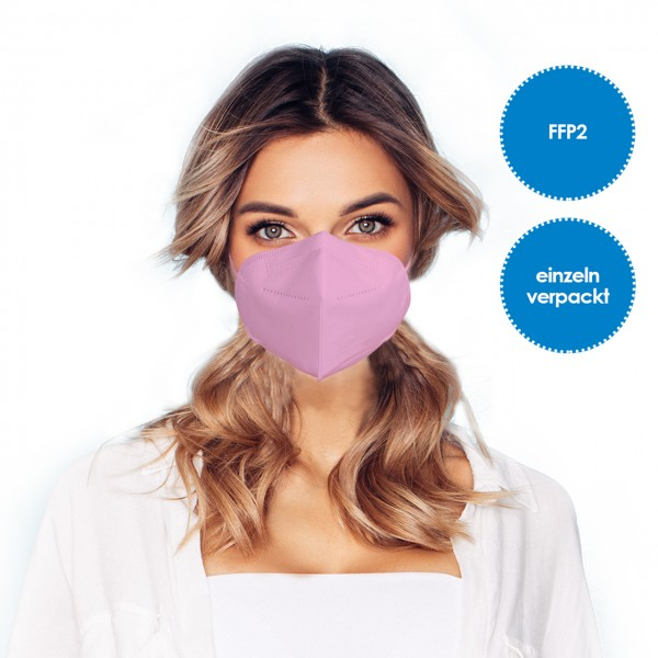 FFP2 Respirator mask pack of 1 *pink*