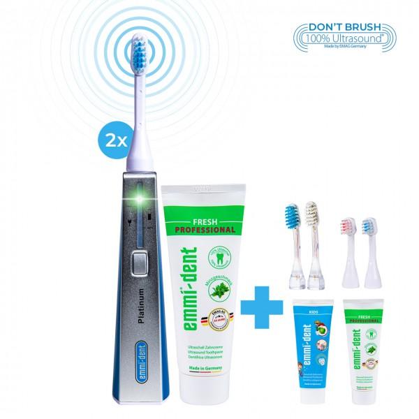 Ultrasonic toothbrush - Platinum Double Set Blue