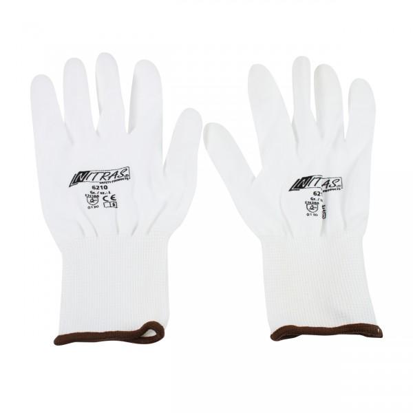 Nylon gloves white - L