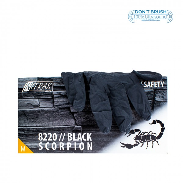 Latex gloves Black Scorpion Black M