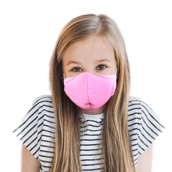 Children mouth and nose mask *pink*