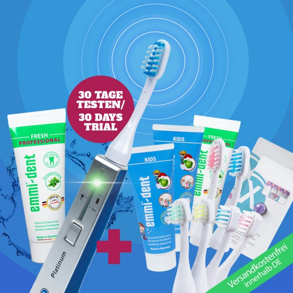 Ultrasonic toothbrush - Platinum Family Set