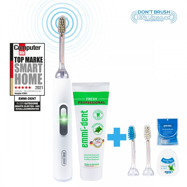 metallic-nature-white-all-around.package-emmi-dent-ultrasonic-toothbrush-with-internental-brushes-and-dental-floss
