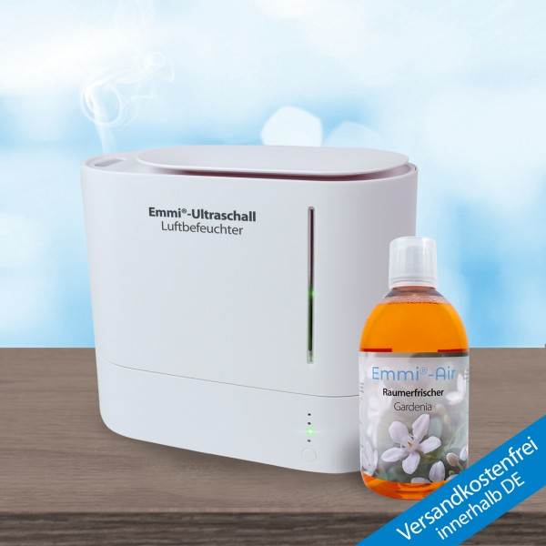 Ultrasonic humidifier *oval* + Room Freshener Gardenia