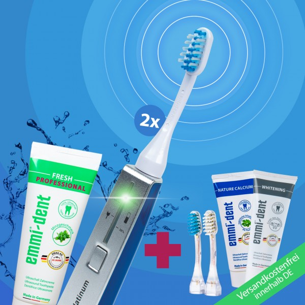 "Ultrasonic toothbrush - Platinum Combo Package ""Blue"""