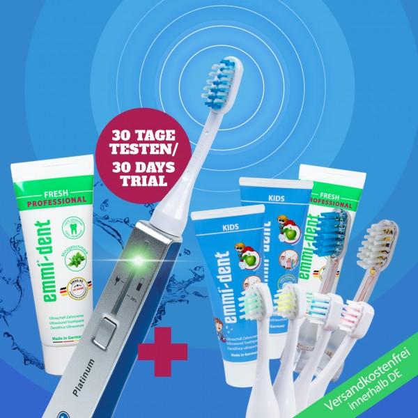 "Ultrasonic toothbrush - Platinum Family Set ""Blue"""