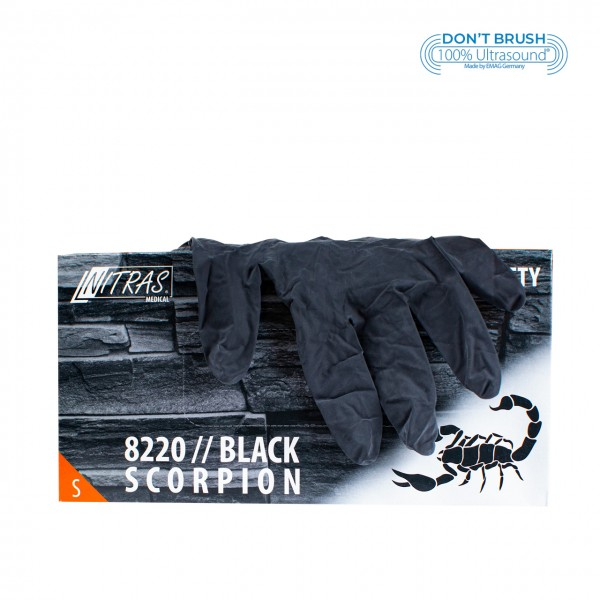 Latex gloves Black Scorpion Black S