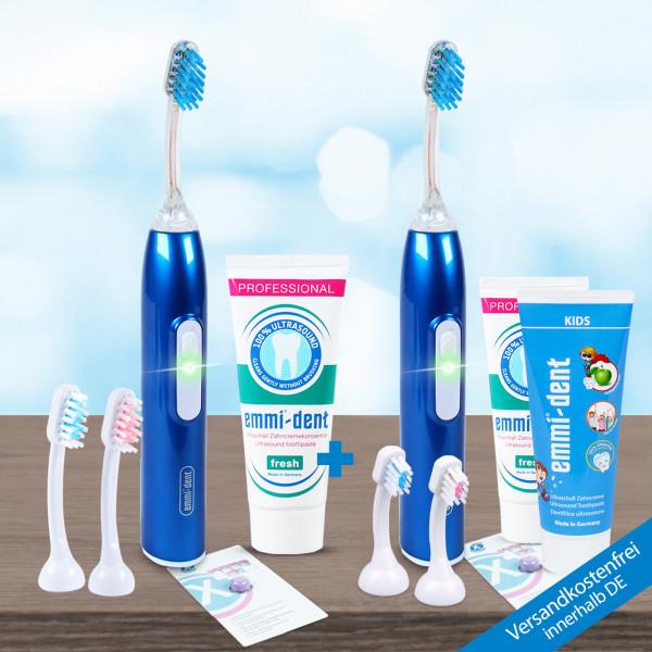 Ultrasonic toothbrush - Metallic double Set Dark Blue