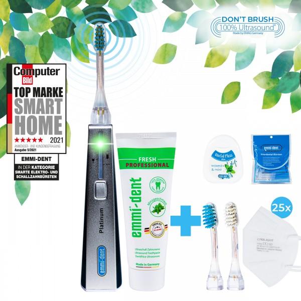Ultrasonic toothbrush Platinum Carbon+FFP2 Masks
