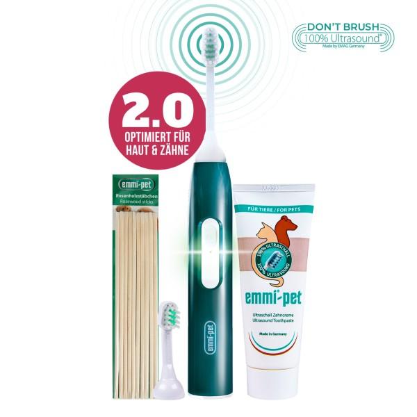 emmi-pet-base-set-2-0-ultrasonic-toothbrush-for-animals-dogs-rosewood-sticks