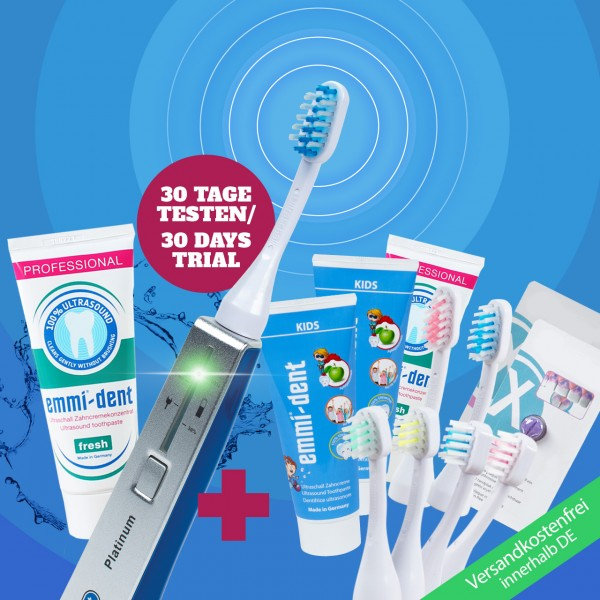 Ultrasonic toothbrush - Platinum Family Set