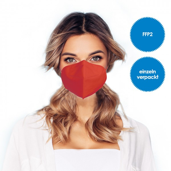 """FFP2 Respirator mask pack of 1 *red"""""""